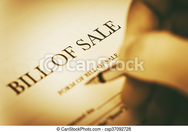 Bill Of Sale Legal Document Signing Concept - Bill of sale legal document