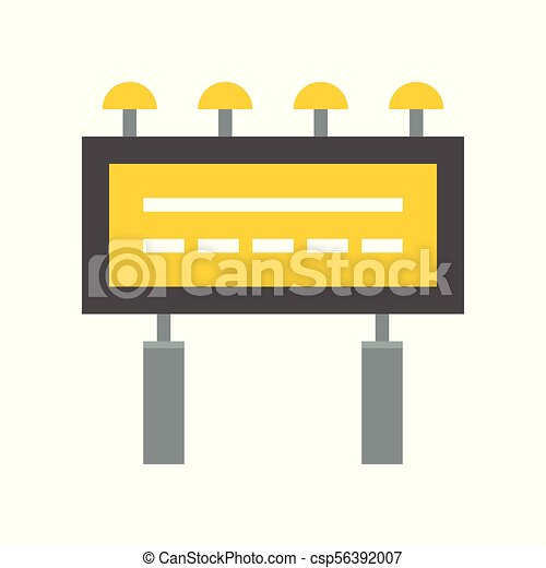 billboard advertising icon flat design vector clipart search rh canstockphoto ie advertising clip art cd advertising clip art free
