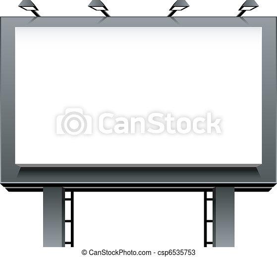 billboard, anunciando - csp6535753
