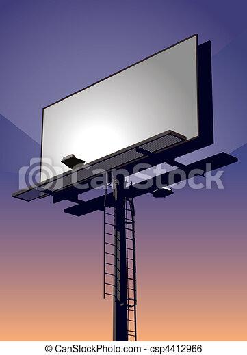 Billboard at Sunset - csp4412966