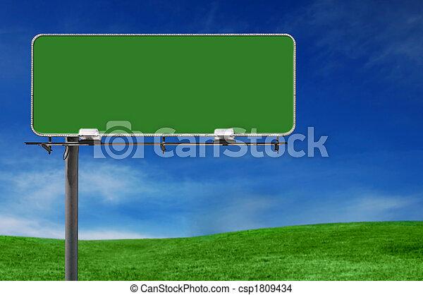 billboard, auto-estrada, ao ar livre, sinal propaganda - csp1809434