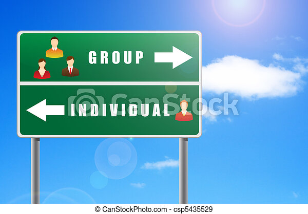 Billboard icons people text group individual. - csp5435529