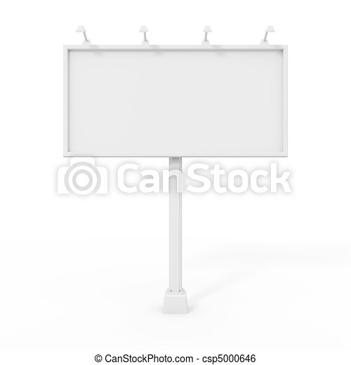 Billboard isolated on white  - csp5000646