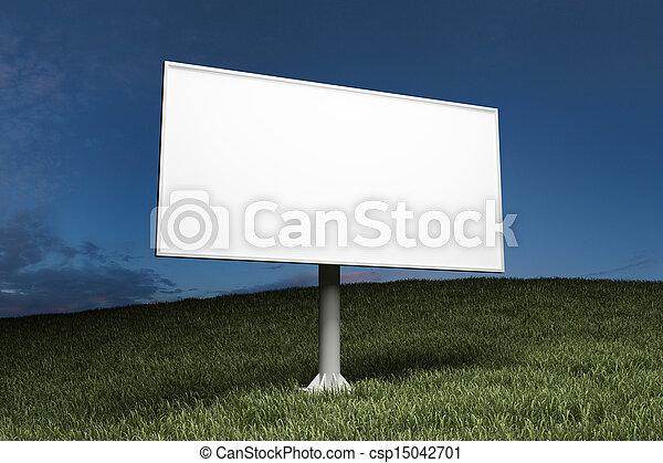 billboard, rua, anunciando, em branco - csp15042701