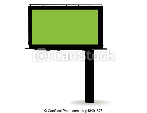 billboard silhouette on white background - csp48491678