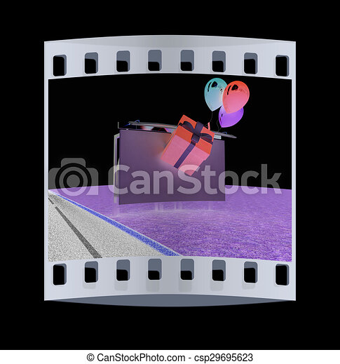 Billboard. The film strip - csp29695623