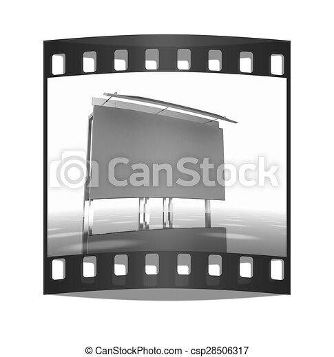 Billboard. The film strip - csp28506317
