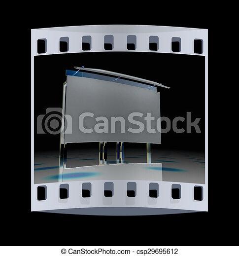 Billboard. The film strip - csp29695612