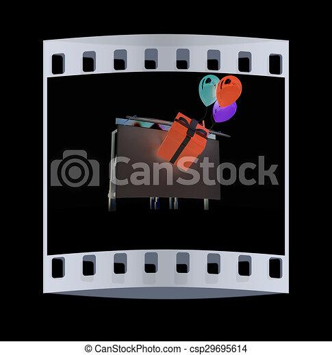 Billboard. The film strip - csp29695614