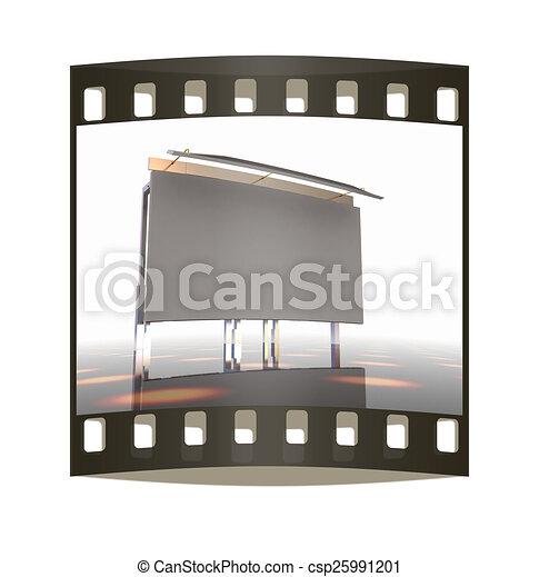 Billboard. The film strip - csp25991201