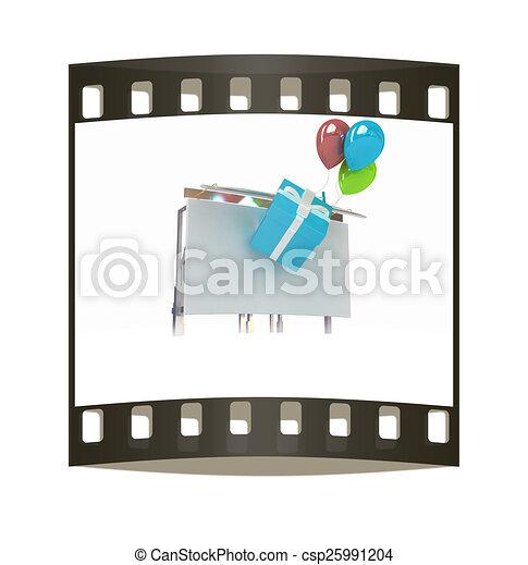 Billboard. The film strip - csp25991204