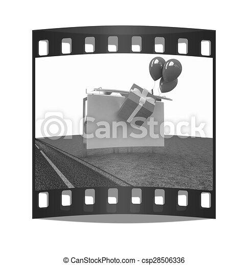 Billboard. The film strip - csp28506336