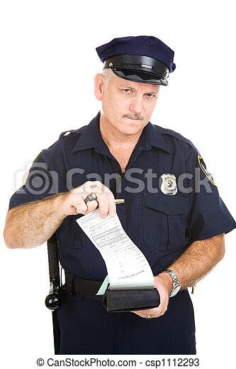 billet, gendarme - csp1112293