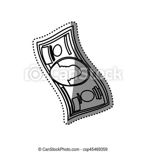 billet of money vector illustration graphic design clipart vector
