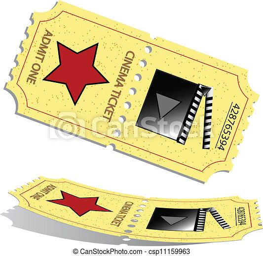 billets, 3d, cinéma - csp11159963