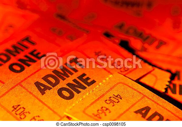 billets, admettre - csp0098105