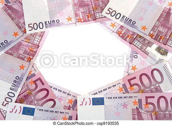 billets banque, cercle, 500, euro - csp9193535