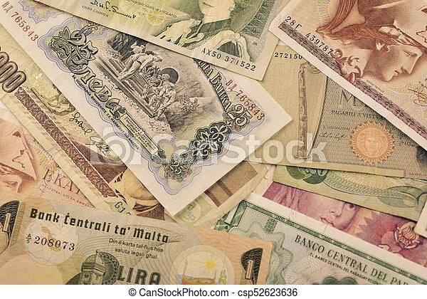 billets banque, devises, vieux - csp52623636