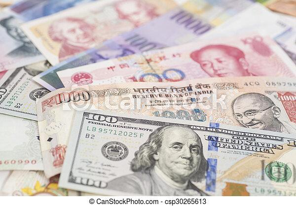billets banque, international, devises - csp30265613