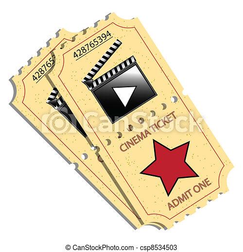 billets, cinéma - csp8534503