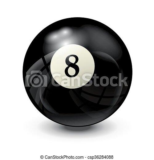billiard ball 8 - csp36284088