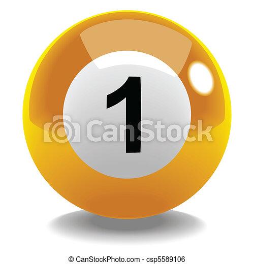 billiard ball no 1 stock vector of billiard ball number 1
