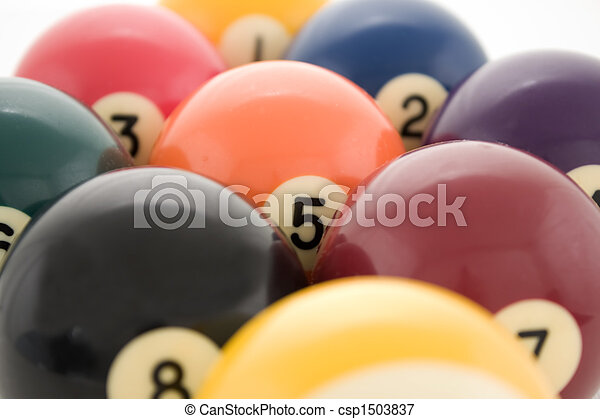 Billiard balls close up - csp1503837
