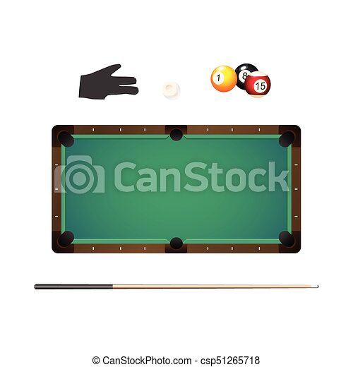 Billiard balls in rack cue chalk and pool glove - csp51265718  sc 1 st  Can Stock Photo & Billiard balls in rack cue chalk and pool glove. Billiard snooker ...