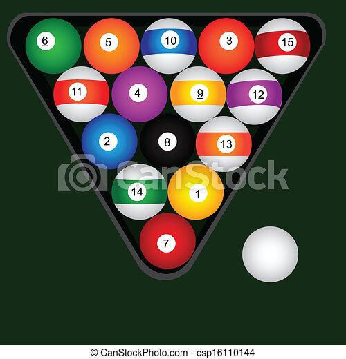 Bolas de billar puestas - csp16110144