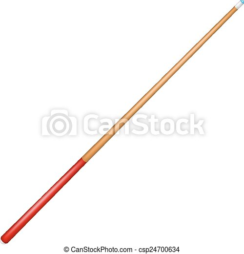 Billiard cue with red handle - csp24700634