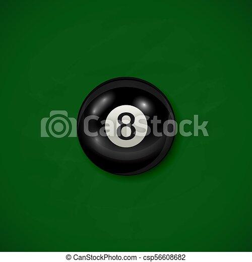 Bola negra de Billar - csp56608682