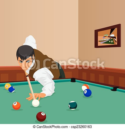 Billiard Shot Man Plays