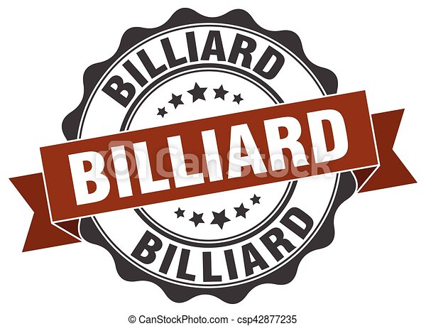 billiard stamp. sign. seal - csp42877235