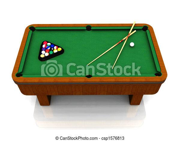 Billiard table - csp1576813