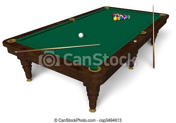 Billiard Table Drawings