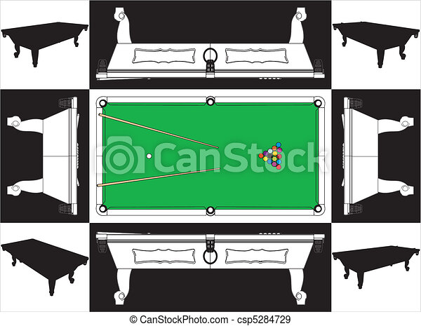 Billiards Snooker Table - csp5284729