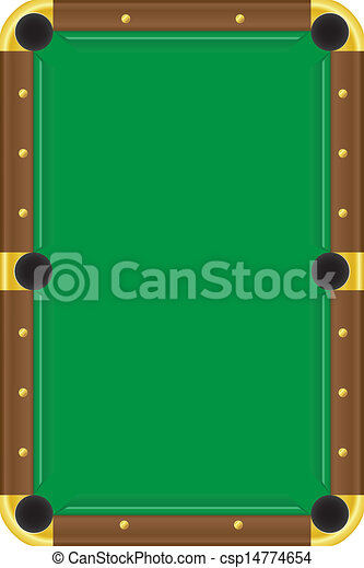 Billiards Table Vector Illustration Clipart