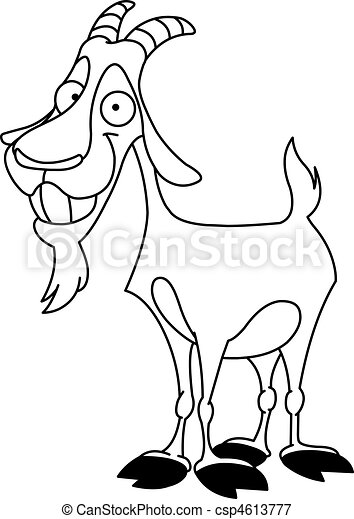 billy, delineato, goat - csp4613777