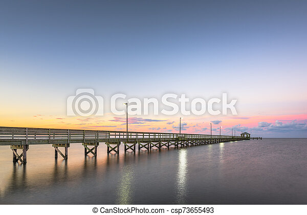 Biloxi Mississippi At Lighthouse Pier Biloxi Mississippi At