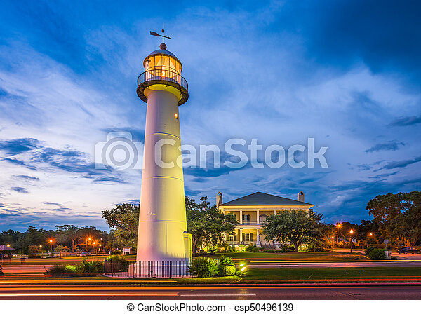 Biloxi Mississippi Lighthouse Biloxi Mississippi Usa At Biloxi Lighthouse