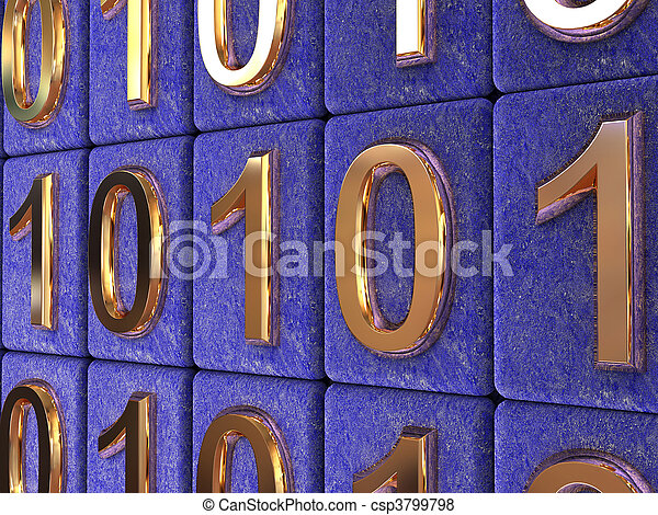 Binärcode. - csp3799798