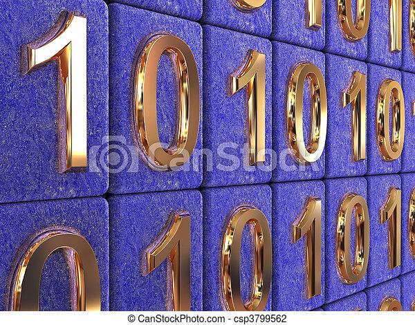 Binärcode. - csp3799562