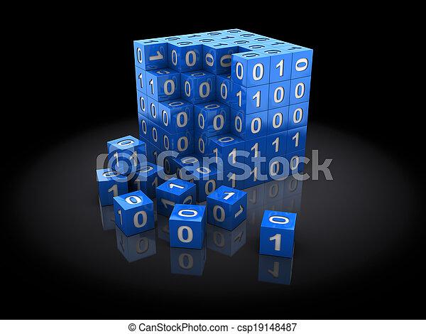 binärer, puzzel - csp19148487