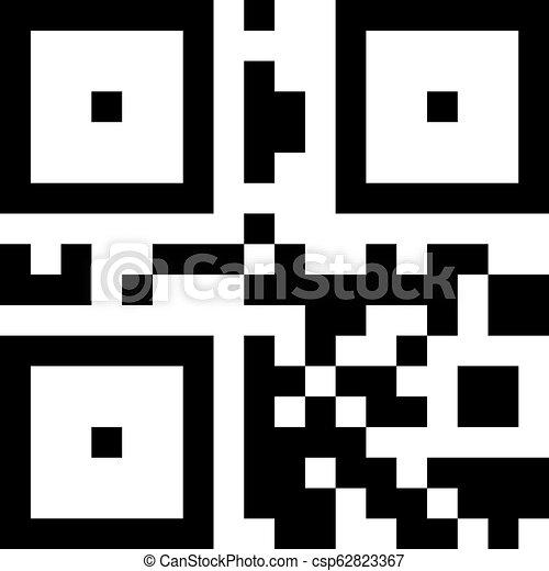 binair, qr, informatie, eenvoudig, teken., starage, digitale , code. - csp62823367