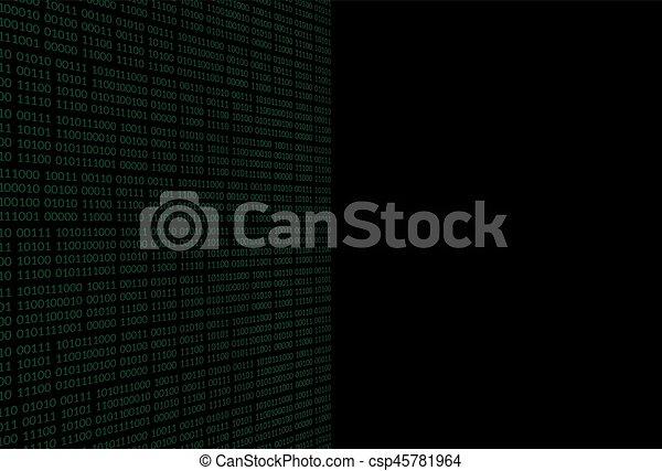 binaire code, achtergrond - csp45781964