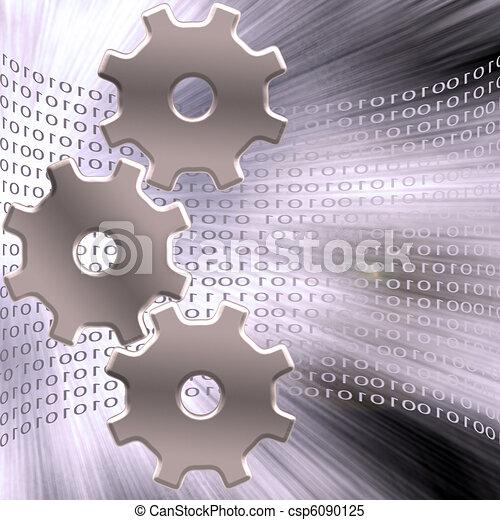binaire, engrenages - csp6090125
