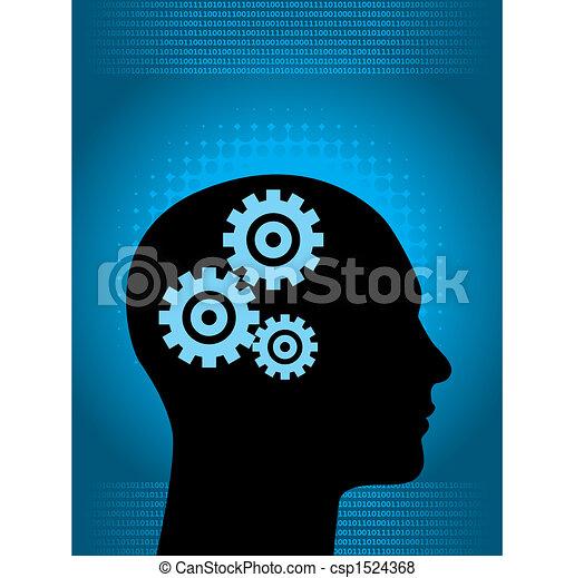 binaire, humain, numérique - csp1524368