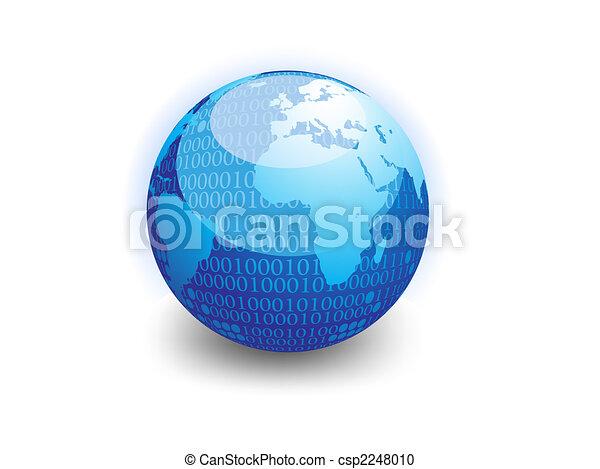 binario, globo, datos - csp2248010