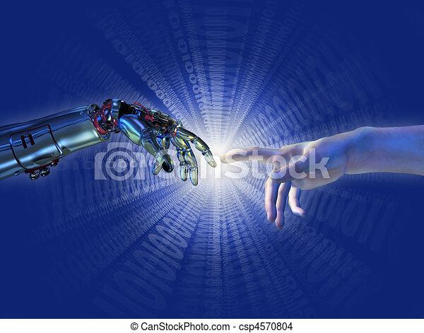 binario, scoppio, intelligenza, -, artificiale, nascita - csp4570804