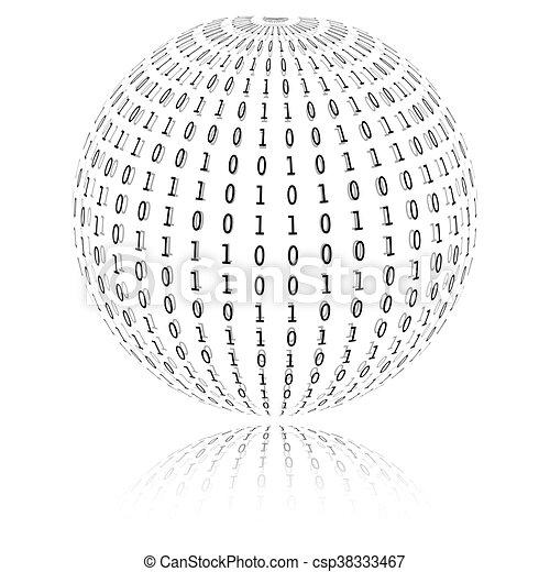 Binary code in sphere form - csp38333467